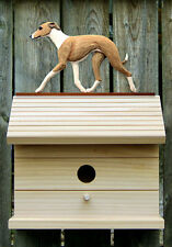 Bird House W/ Italian Greyhound on Peak. Home,Yard & Garden Dog Products & Gifts