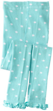COUNTRY KIDS Cotton Ruffle Polka Dot Footless Tights Capri 1 to 8 years