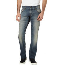 Dolce & Gabbana Men Gold Distressed Denim