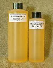 PURE MACADAMIA NUT CARRIER OIL COLD PRESS SOAP SAMPLE - 16 oz FAST FREE SHIPPING