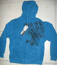 NWT MENS SOUTHPOLE HOODED SWEATER JACKET $60 DEEP BLUE