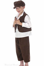 Victorian Boy Costume Villager Chimney Sweep Oliver! Workhouse Urchin Outfit