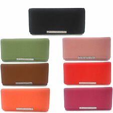 Boxed Womens Designer Faux Leather Clutch Purse Ladies Evening Bag New UK Seller