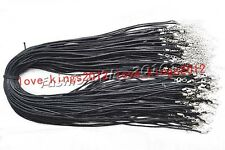 Wholesale lots hemp rope silver plated Necklaces Cord Chains Jewelry 55+5CM FREE
