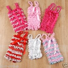 NEW Baby Toddler Girl Lace Posh Petti Ruffle Rompers Prop Prop Playsuit Jumpsuit
