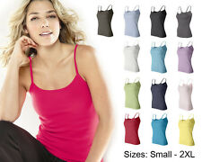 Bella Ladies 1×1 Rib Spaghetti Strap Tank Top, 14 Colors, 5 Sizes S-2XL (1011)