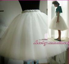 Womens Gauze Tulle Balley Pincess TUTU Skirt White Black 50CM