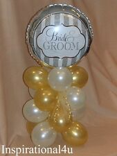 IVORY & GOLD BIRTHDAY, ANNIVERSARY, WEDDING, BALLOON DECORATION CENTERPIECE