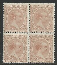Spain stamps 1889 YV 200 Bloc of 4  MNH  VF
