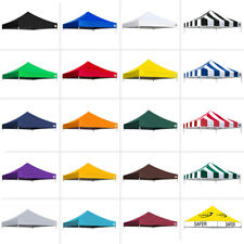 New Pop Up 10x10 Replacement Instant EZ Canopy Top Cover Choose 15 COLORS 600D