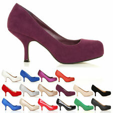 New Womens Ladies High Heel Platform Pumps Court Shoes UK Size 3 4 5 6 7 8 BECKY