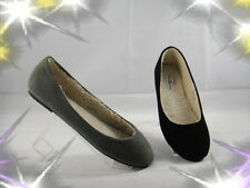 Black Taupe Suede Round Toe Ballet Fur Warm Flat Shoes Size 5 6 7 8 9 10