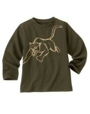 NWT Gymboree 4 6  WILDERNESS CLUB Olive Green Wildcat Long Sleeve Shirt