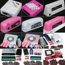 36W 9W Dryer Lamp Electric Nail File Drill Machine Art Tips Tools Dust Suction