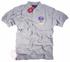 FDNY T-Shirt Polo Gray Officially Licensed by The New York City Fire Department
