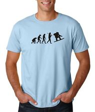 Mens Evolution of Man Snowboard Snow Winter Extreme Sports T-Shirt Tee