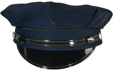 Police Security Guard Officer Navy Blue Security 8 Point Pointed Uniform Hat Cap