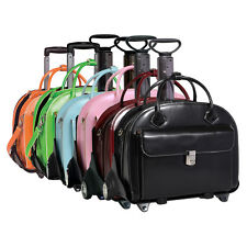 Womens Leather Briefcase with Removable-Wheeled Cart Glen Ellyn