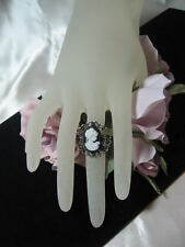 ADJUSTABLE CAMEO RING GOLD, ANTIQUE SILVER, ANTIQUE GOLD 5 COLORS OF CAMEOS