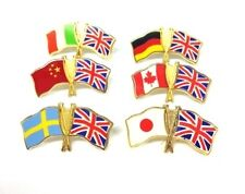 NATIONAL FLAG PIN BADGES  UNION JACK WITH YOUR COUNTRY ALL SPORTS  & OLYMPICS