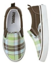 GYMBOREE PLAID FOR SPRING GREEN PLAID SLIP ON SNEAKERS SHOES 9 11 12 13 1 NWT