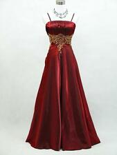 Cherlone Satin Burgundy Long Prom Ball Wedding/Evening Gown Bridesmaid Dress