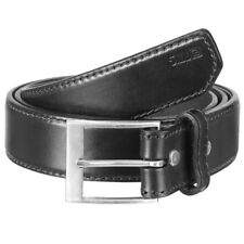 """5.11 LEATHER CASUAL BELT 1.5"""" ARMY TACTICAL POLICE SECURITY GUARD DOOR MAN BLACK"""