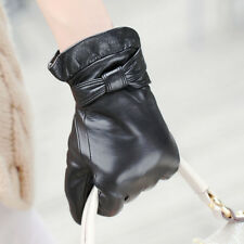 Hot sale! 4 color Stylish Italian Genuine Nappa Leather Winter Warm lined Gloves