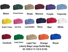 Liberty Bags Game Day Large Square Gym Sports Recycled Duffel Bag 23 X 11 8806