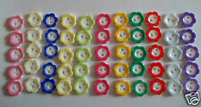 FLOWER BUTTONS SIZE 18 11mm PRETTY BUTTONS FOR BABY REBORNS OR SEWING CRAFTS ETC