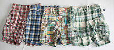 NWT GAP kids red green blue plaid madras shorts boys 5 reg Choose One NEW