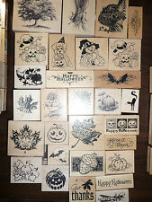 Inkadinkado Wood-mounted Stamps Fall & Halloween for scrapin and stampin New