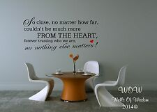 Belle citations rien d'autre choses Wall Sticker / mur Art Home Decor