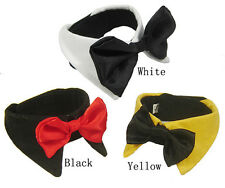 Dog bowe tie collar for small dogs, necktie formal bow tie in white, yellow, red