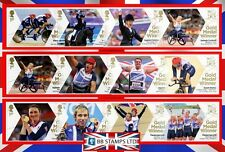 London 2012 Paralympic Games Gold Medal Winner Single Stamps. J2 - K1