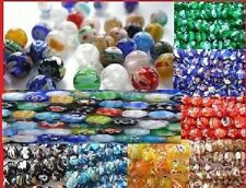 25 x 8mm Millefiori Beads - Choose your Colour! Massive postage Discounts