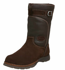 NIB Pajar Panther Brown Leather Nubuck Sheepskin Lined Mid Boots Mens Extra Wide