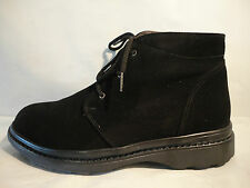 NIB Pajar Max Black Suede Sheepskin Lined Ankle Boots Men's Extra Wide Width