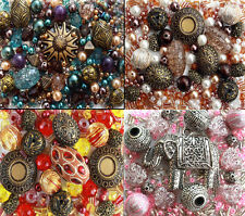 Silver Bronze Gold Ethnic Tibetan Pearls Jewellery Making Beads Kit Mix