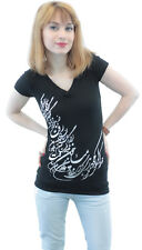 New Ladies V-Neck T-Shirt Iranian Persian Gift Iran Persia Farvahar Pahlavi Art