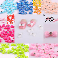 20PCS Rhinstone Acrlic 3D Bows Nail Art/Cellphone Glitter DIY Decoration Gift