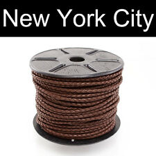 4mm Brown Bolo Braided Leather Cord Necklace 1 yard