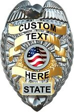 Custom Police badge vinyl graphic decal for squad car set of 2