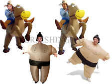 INFLATABLE KIDS/ADULT SUMO/COWBOY COSTUME FANCY DRESS PARTY OUTFIT FUN HALLOWEEN