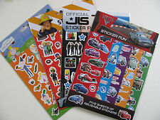 5 Sheets of Reusable Stickers Fun Pack TV Series Film Cars Fireman Sam Official