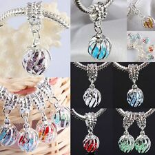 Wholesale Crystal Rhinestone Lantern Dangle European EP Beads Fit Charm Bracelet