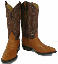 CROCODILE ALLIGATOR GENUINE SKIN HEAD CUT MANS WESTERN COWBOY BOOTS SHOES J-TOE