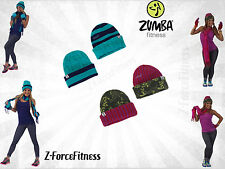Zumba Fitness ~warm COZY UP REVERSIBLE Beanie Hat ~ 2 Colors ~ New~ Workout Gear