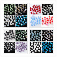 Wholesale 6mm Charms Glass Crystal Bicone Loose Spacer Beads Jewelry Findings