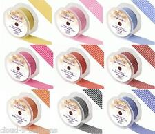38mm wide by 25m long Roll of Eleganza Gingham Classic Ribbon - Wedding / Crafts